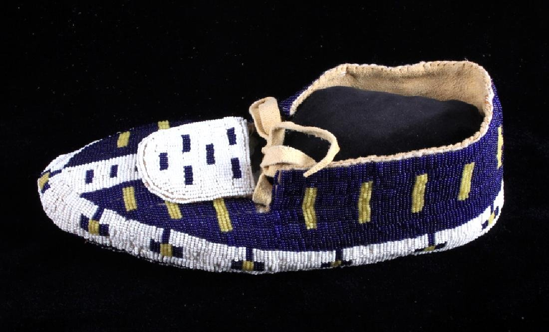 Blackfeet Native American Fully Beaded Moccasins - 4
