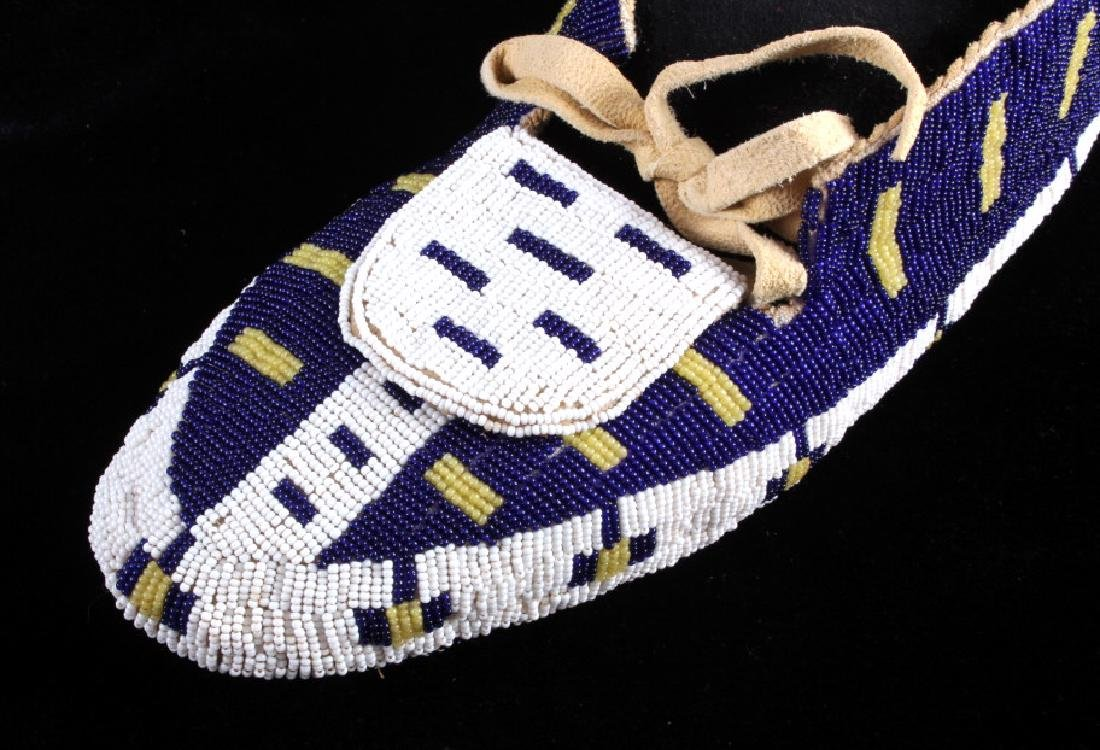 Blackfeet Native American Fully Beaded Moccasins - 5