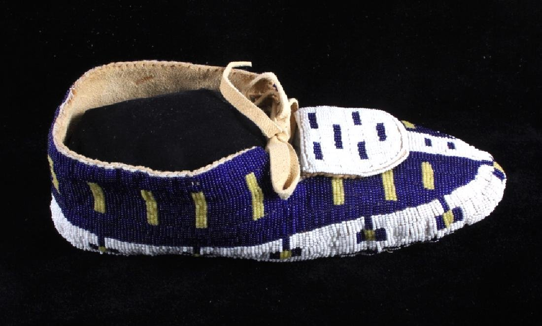 Blackfeet Native American Fully Beaded Moccasins - 6