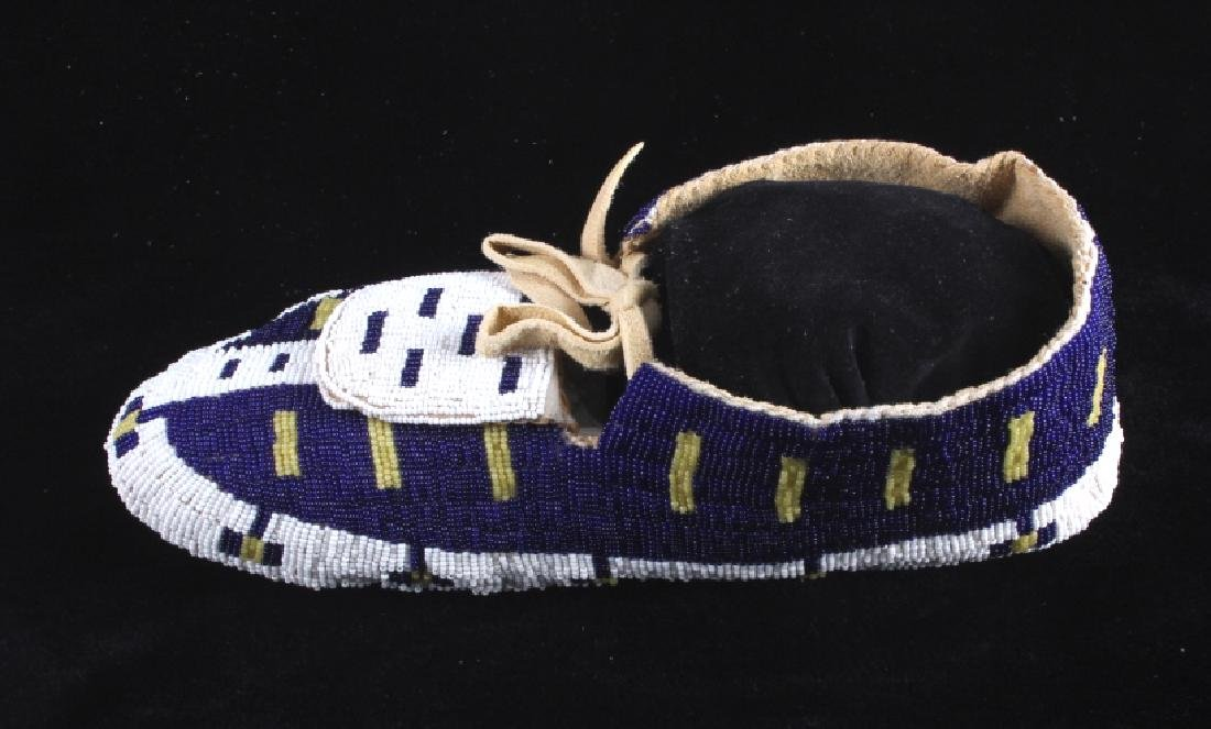 Blackfeet Native American Fully Beaded Moccasins - 9