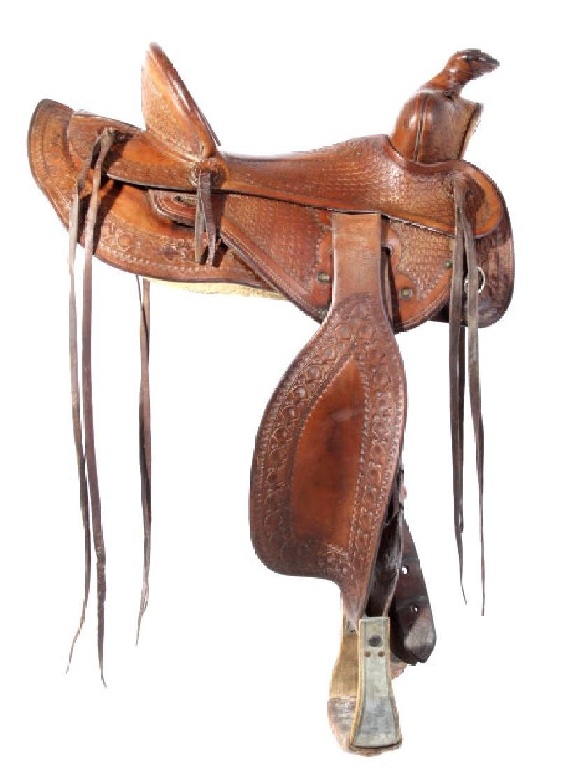 Jack Connolly Livingston, MT Custom Saddle c.1929-