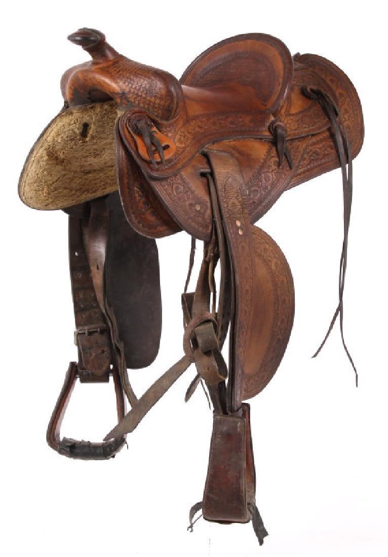 Jack Connolly Livingston, MT Custom Saddle c.1929- - 3