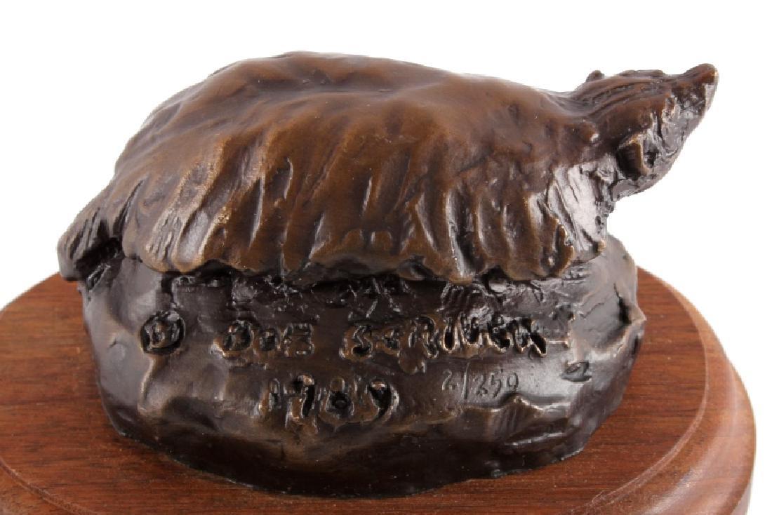 Original Bob Scriver Badger Bronze Sculpture - 3