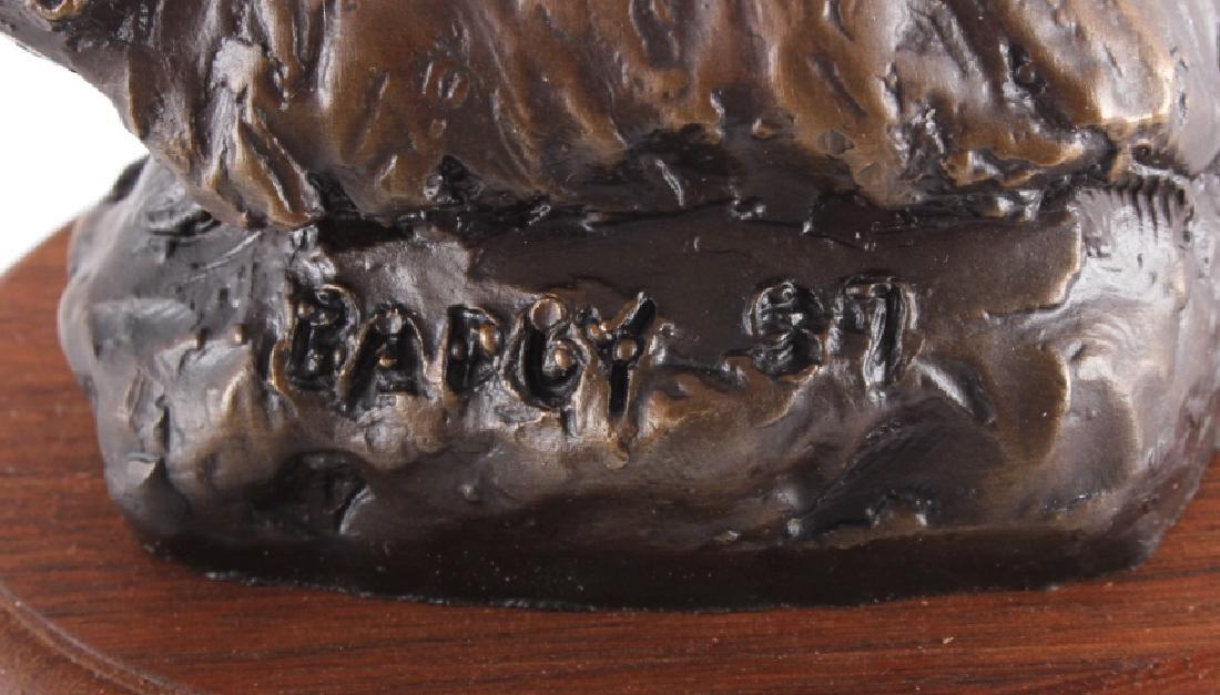 Original Bob Scriver Badger Bronze Sculpture - 6