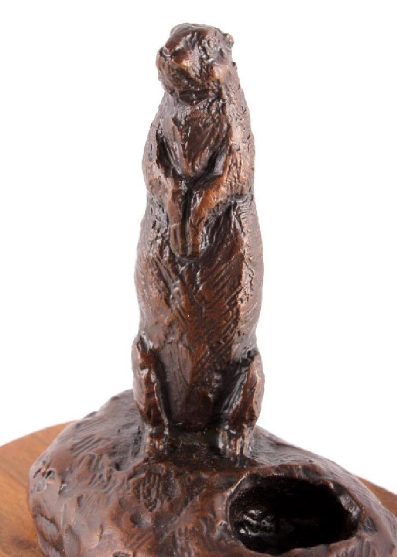 Bob Scriver Original Bronze Sculpture Rex's Gopher - 4