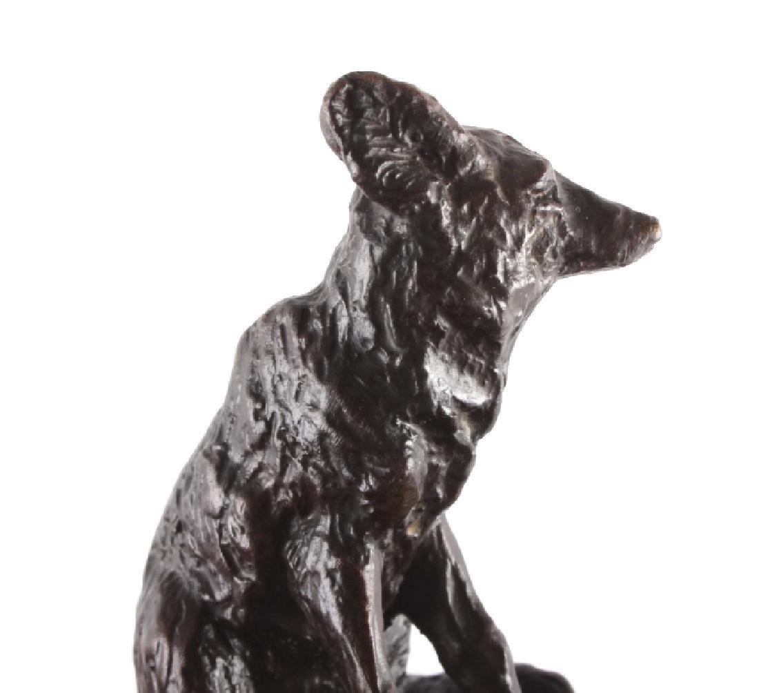 Original Bob Scriver Red Fox Bronze Sculpture - 10
