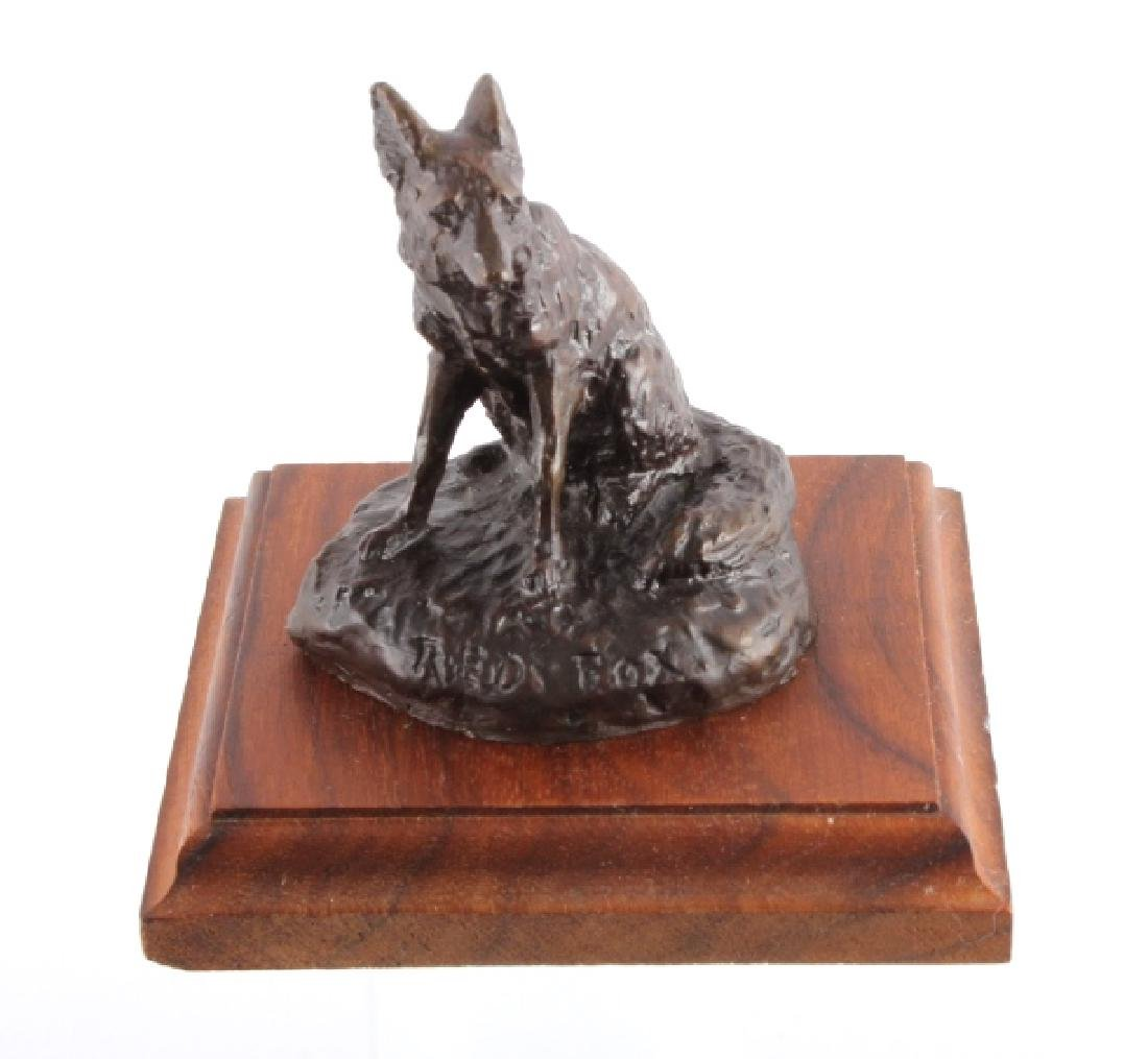 Original Bob Scriver Red Fox Bronze Sculpture