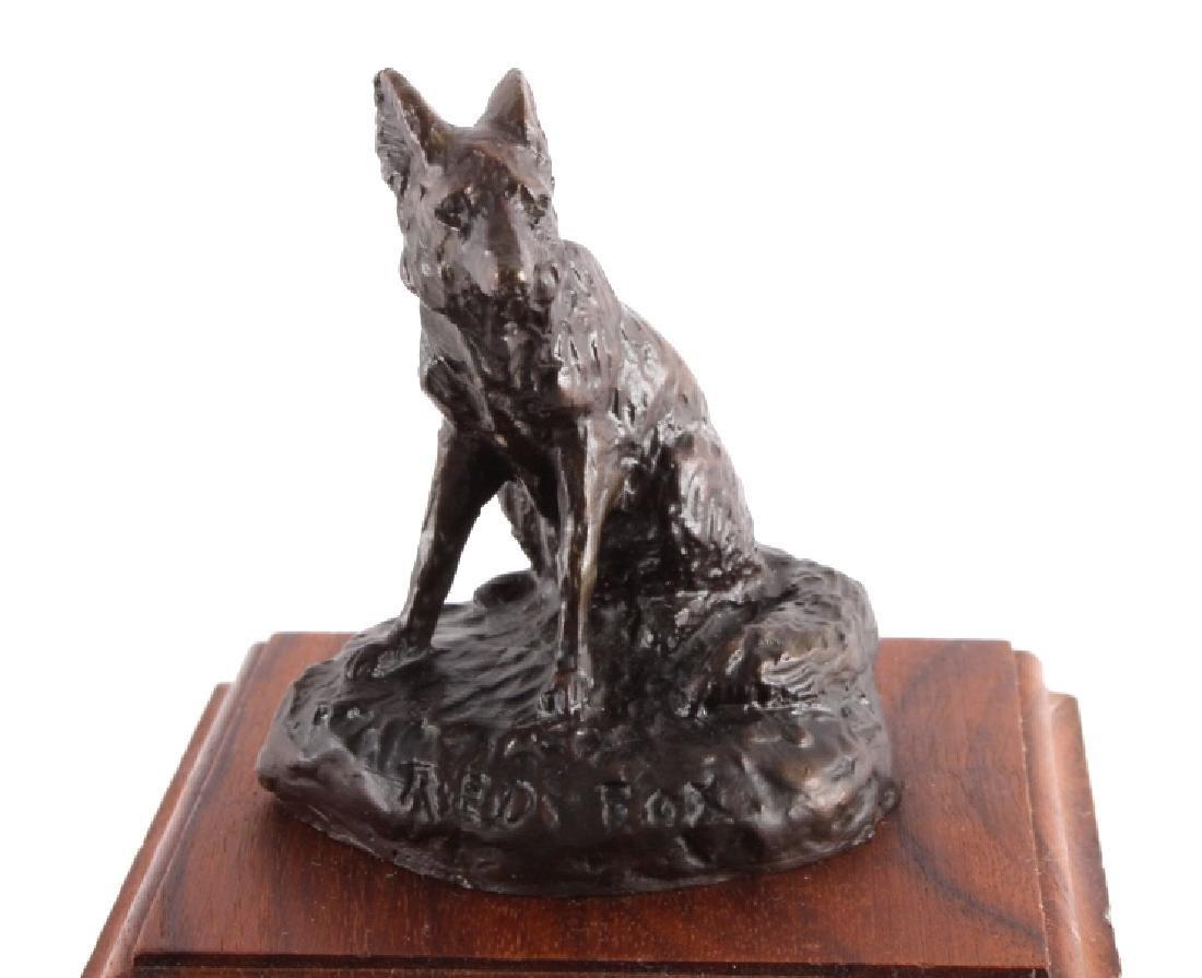 Original Bob Scriver Red Fox Bronze Sculpture - 2