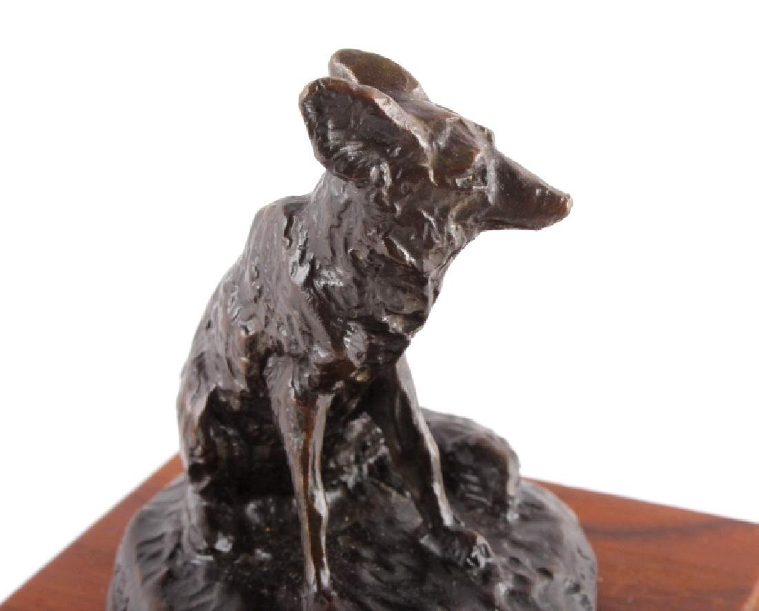 Original Bob Scriver Red Fox Bronze Sculpture - 4