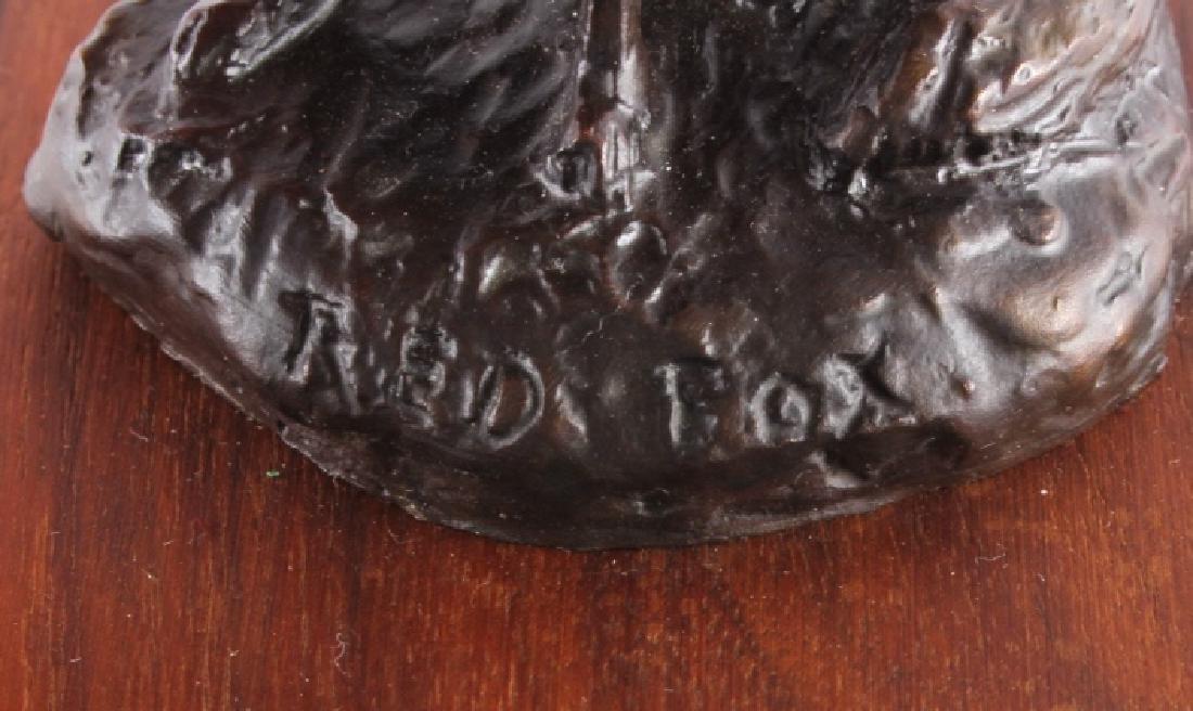 Original Bob Scriver Red Fox Bronze Sculpture - 5