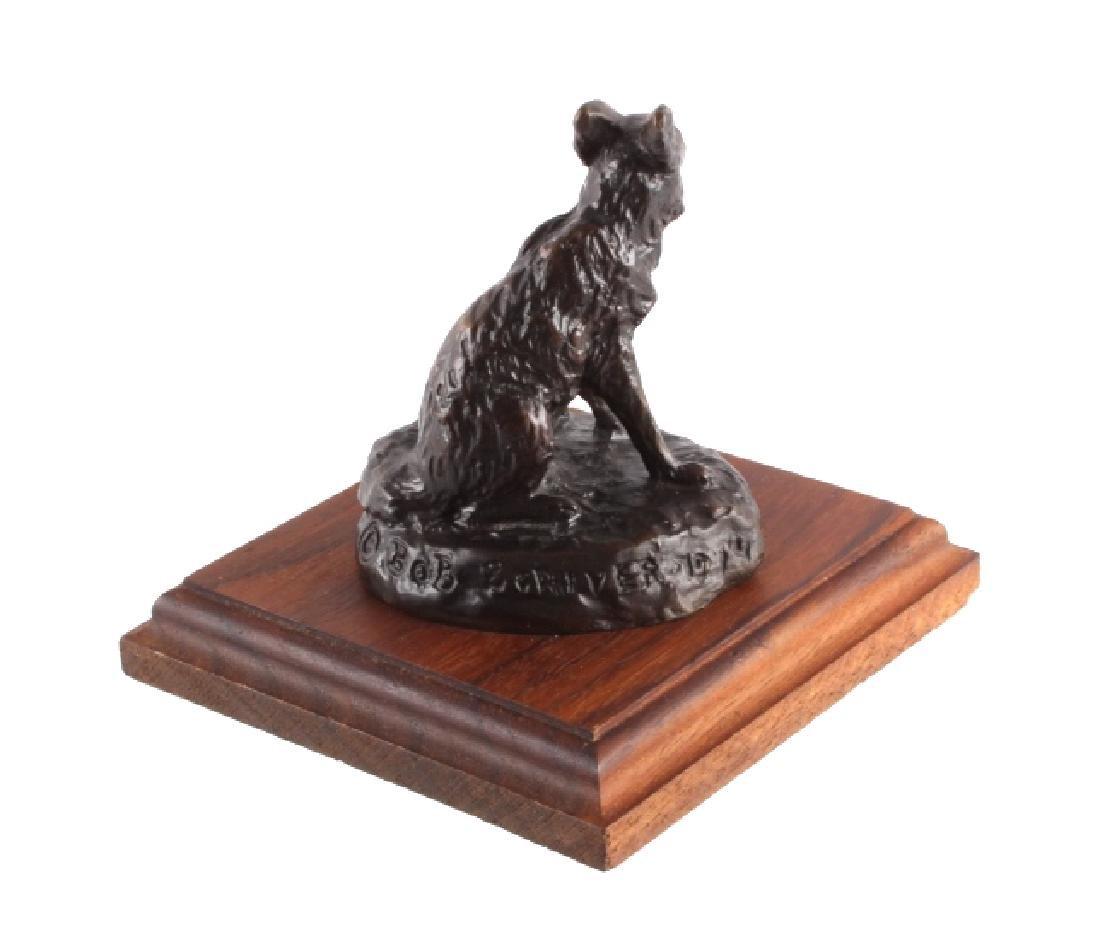 Original Bob Scriver Red Fox Bronze Sculpture - 6