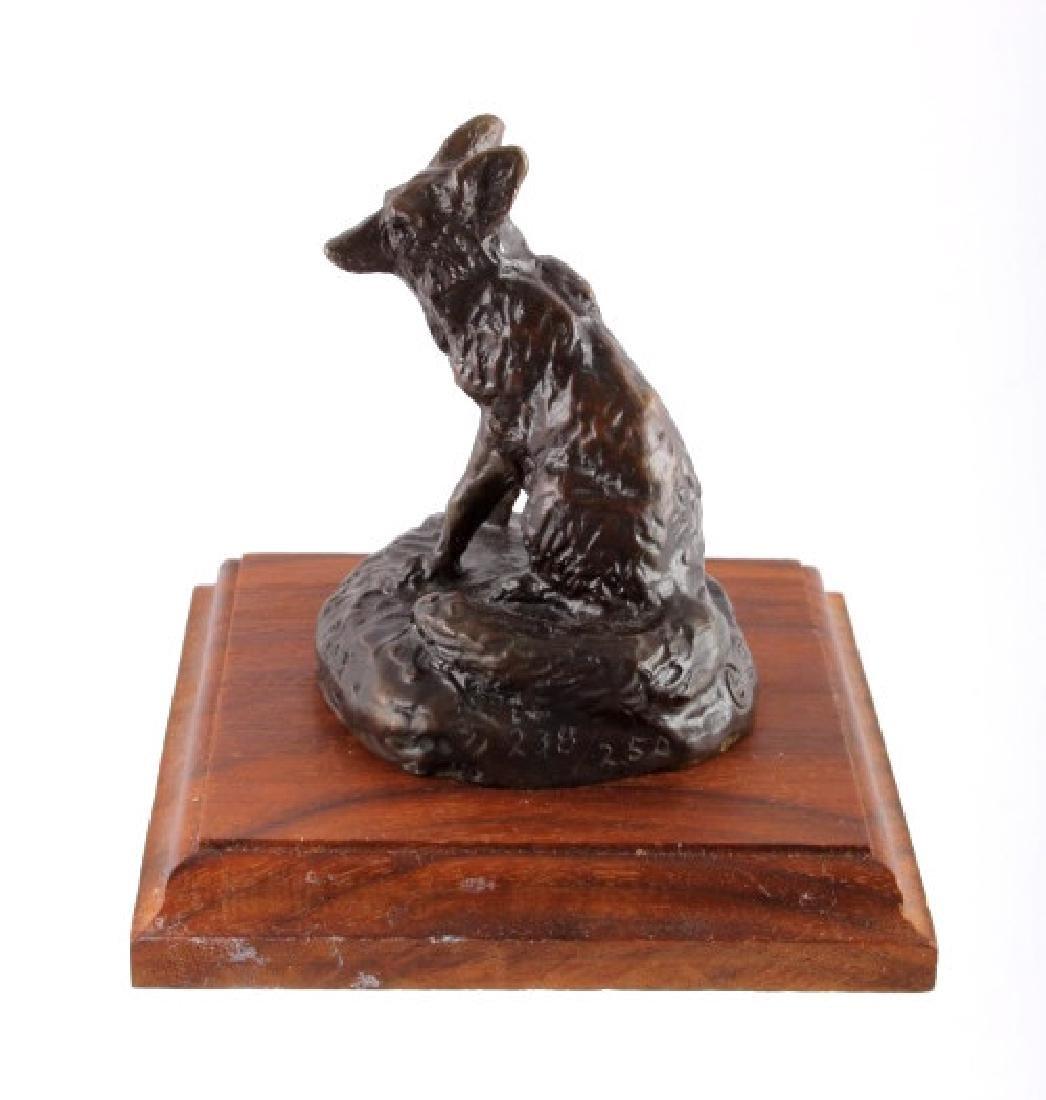 Original Bob Scriver Red Fox Bronze Sculpture - 9