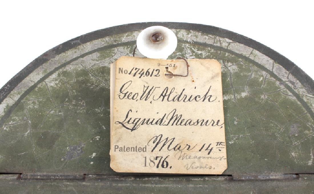 1876 Patent Model Liquid Measure Barrel - 8