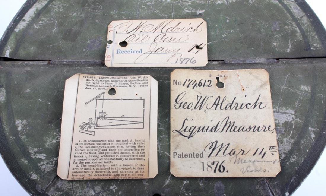 1876 Patent Model Liquid Measure Barrel - 9