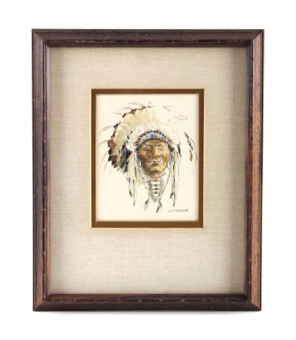 Original Robert Morgan Blackfoot Chief Painting