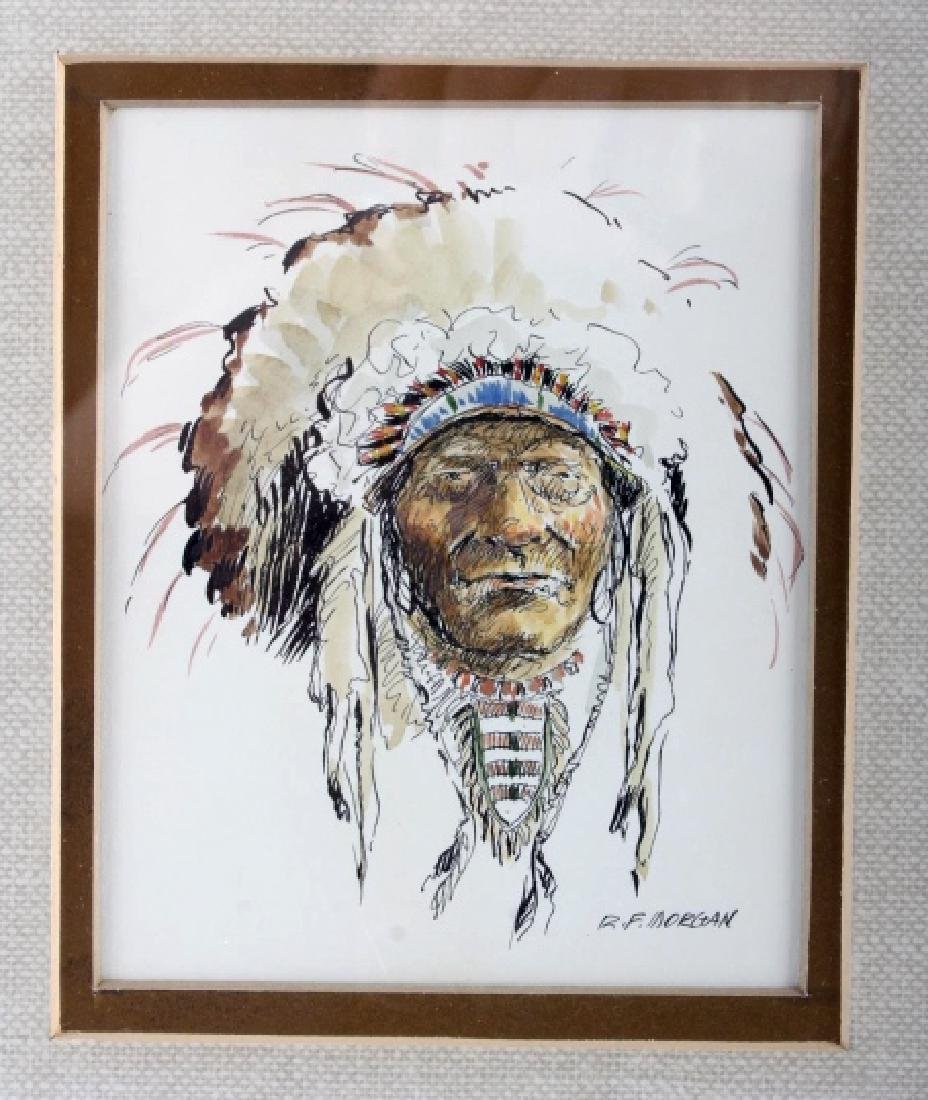 Original Robert Morgan Blackfoot Chief Painting - 2