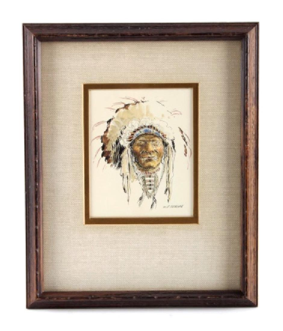 Original Robert Morgan Blackfoot Chief Painting - 8