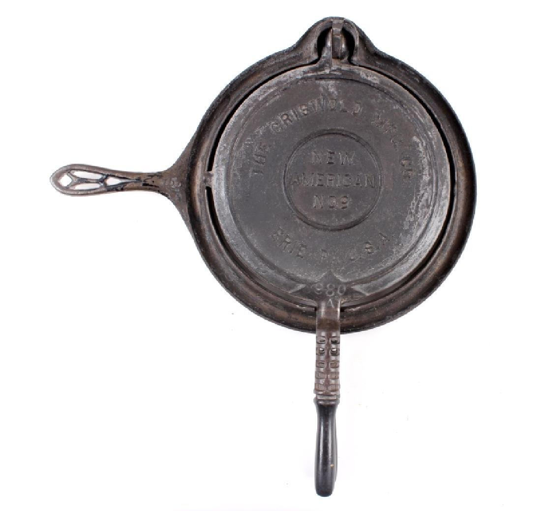 """Griswold """"New American"""" No. 9 Waffle Iron-Low Base"""