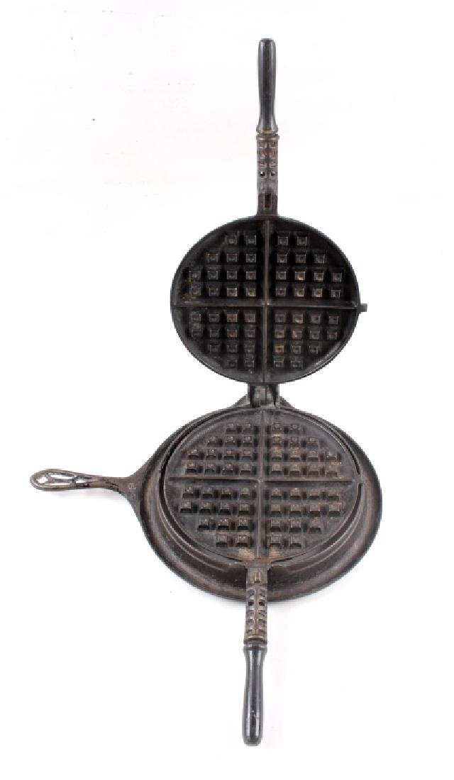 "Griswold ""New American"" No. 9 Waffle Iron-Low Base - 8"
