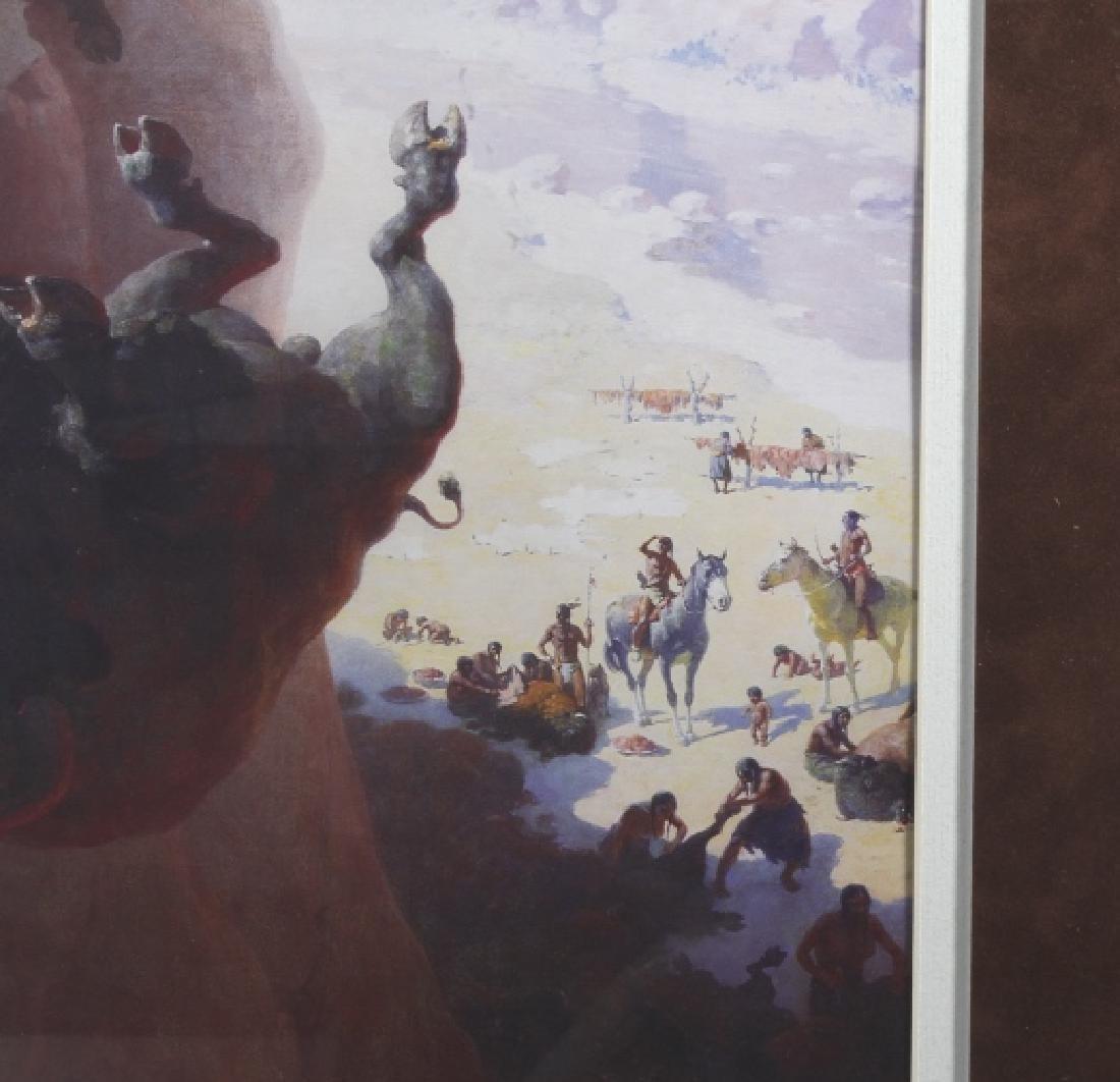 William R. Leigh - Buffalo Drive Framed Print - 3