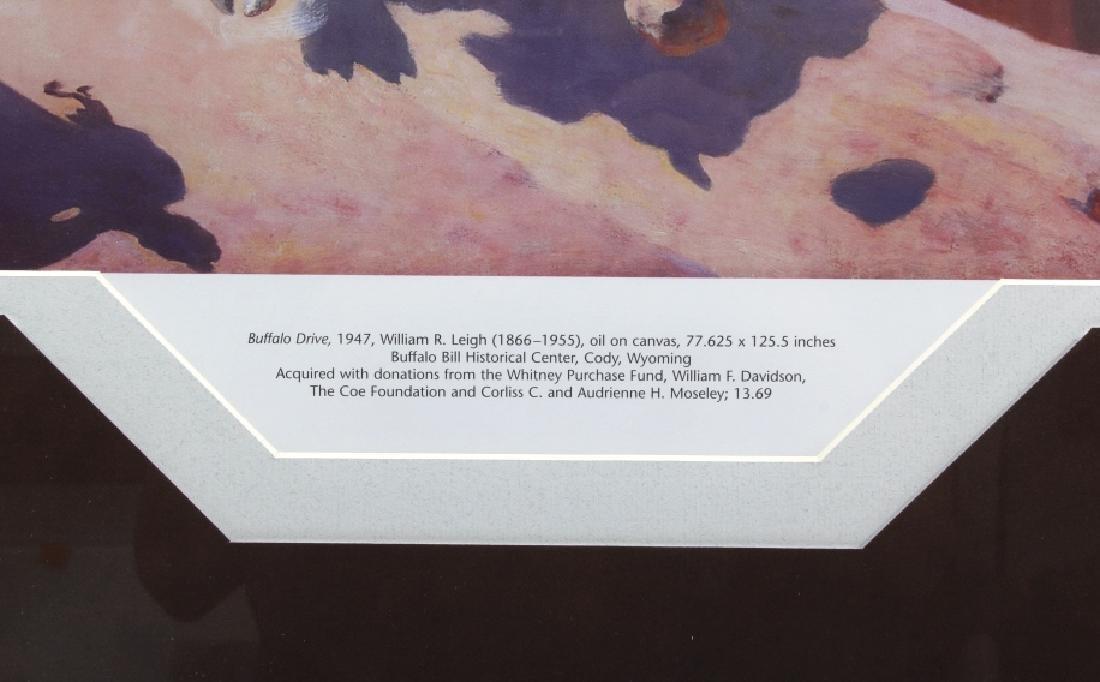 William R. Leigh - Buffalo Drive Framed Print - 4