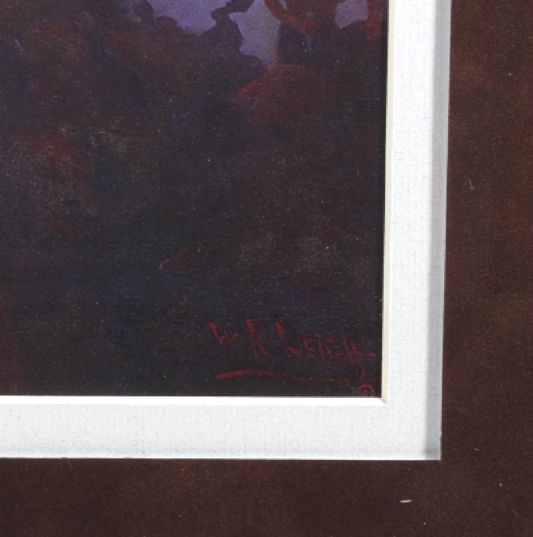 William R. Leigh - Buffalo Drive Framed Print - 5