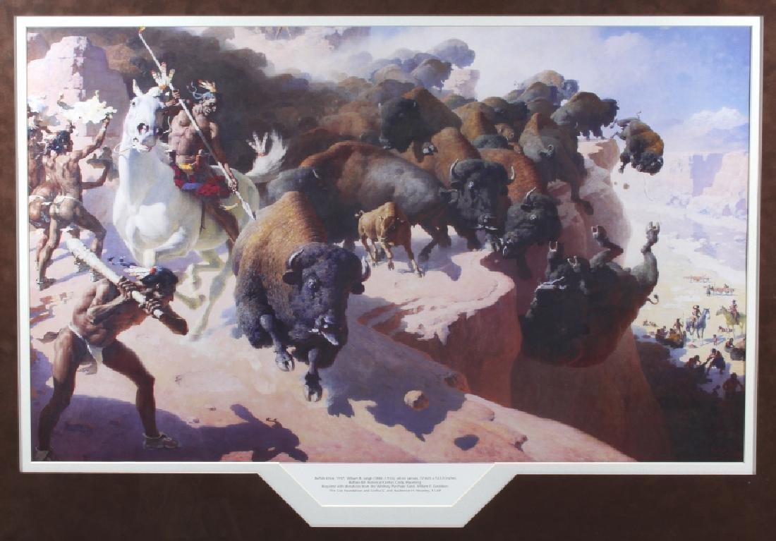 William R. Leigh - Buffalo Drive Framed Print - 6