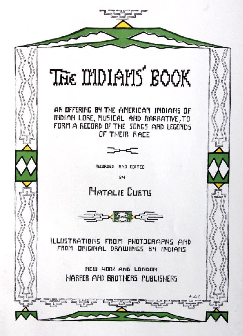 The Indians' Book by Natalie Curtis w/ Dust Jacket - 3