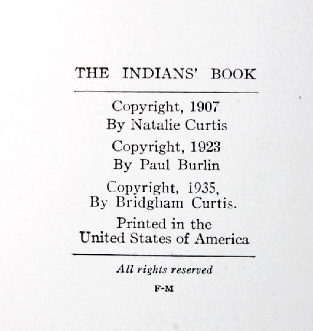 The Indians' Book by Natalie Curtis w/ Dust Jacket - 4