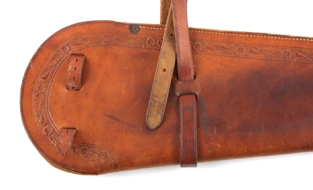 George Lawrence Tooled Leather Rifle Scabbard - 11