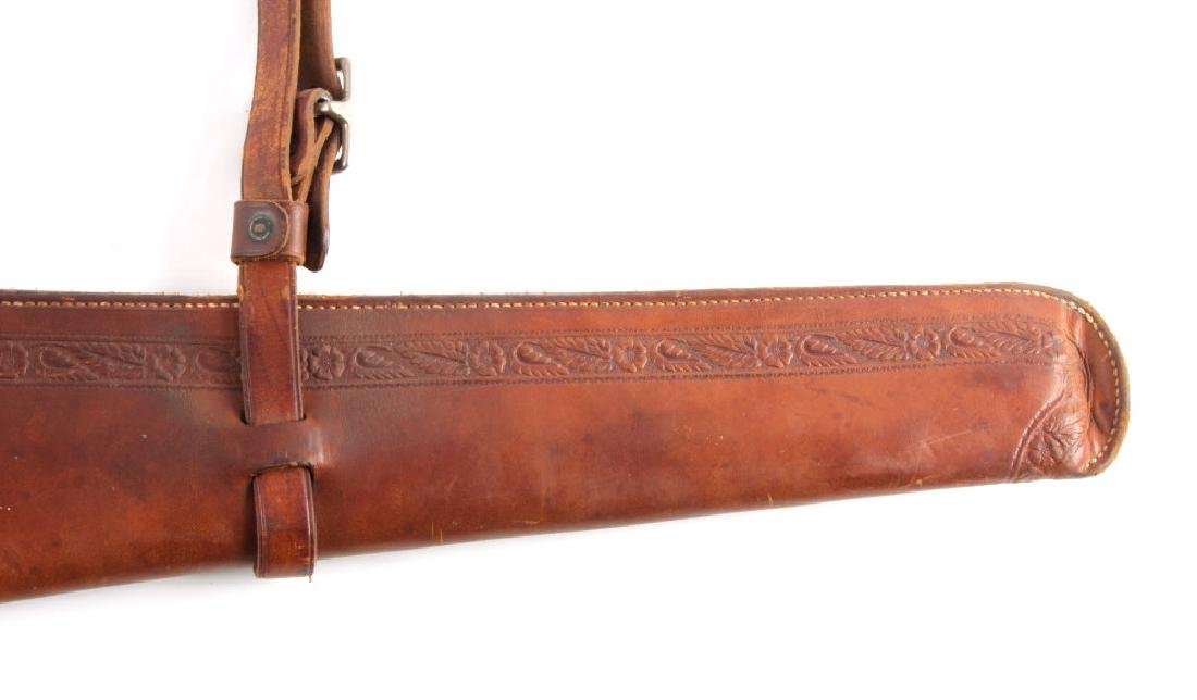 George Lawrence Tooled Leather Rifle Scabbard - 12