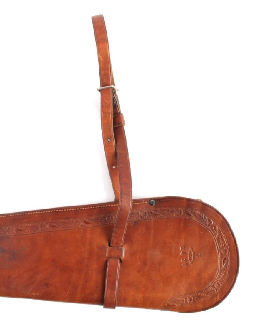 George Lawrence Tooled Leather Rifle Scabbard - 2