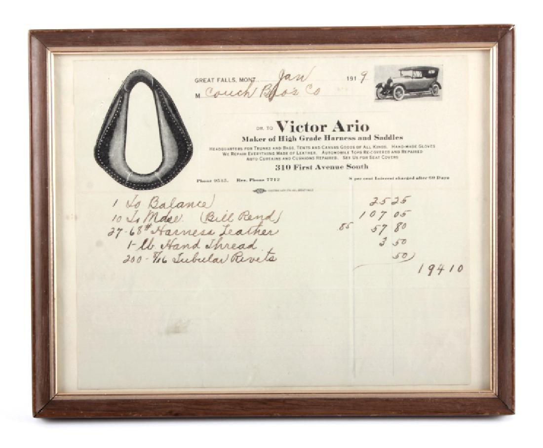 Victor Ario 1919 Sale Bill Great Falls Montana