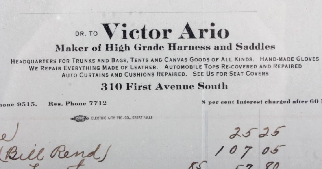 Victor Ario 1919 Sale Bill Great Falls Montana - 2