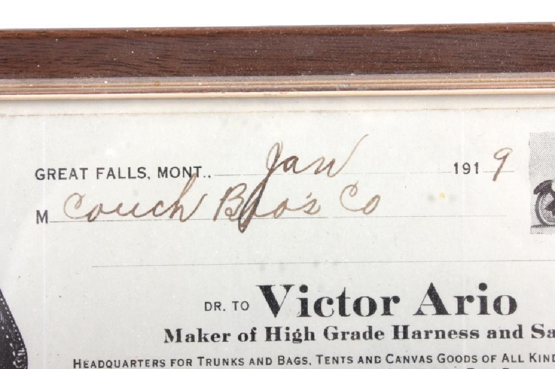 Victor Ario 1919 Sale Bill Great Falls Montana - 5