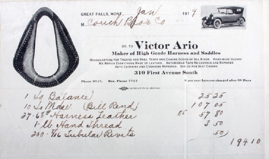 Victor Ario 1919 Sale Bill Great Falls Montana - 6