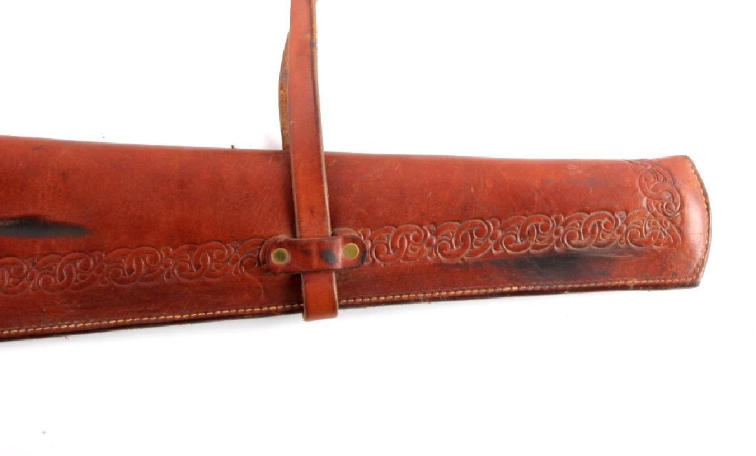 Miles City Saddlery Leather Rifle Scabbard - 3