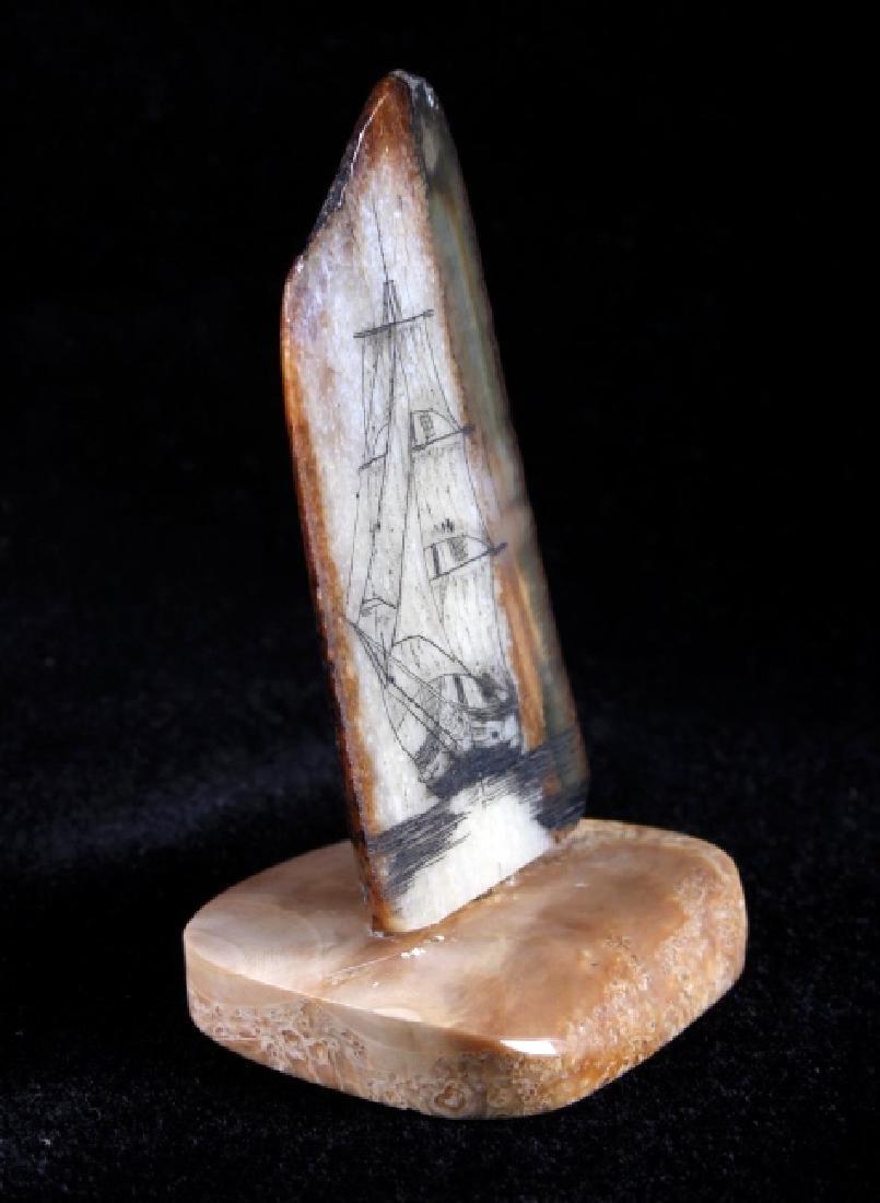 Ancient Mammoth Tusk Scrimshaw - 2