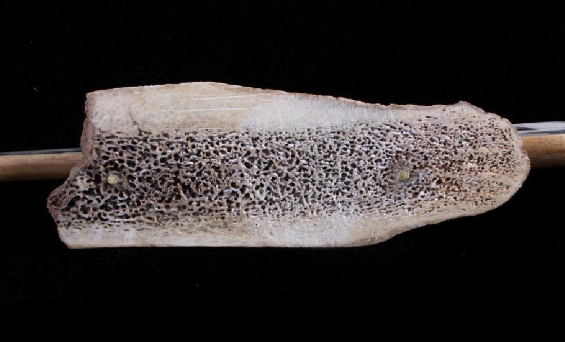 Alaskan Inuit Eskimo Walrus Tusk Scrimshaw - 9