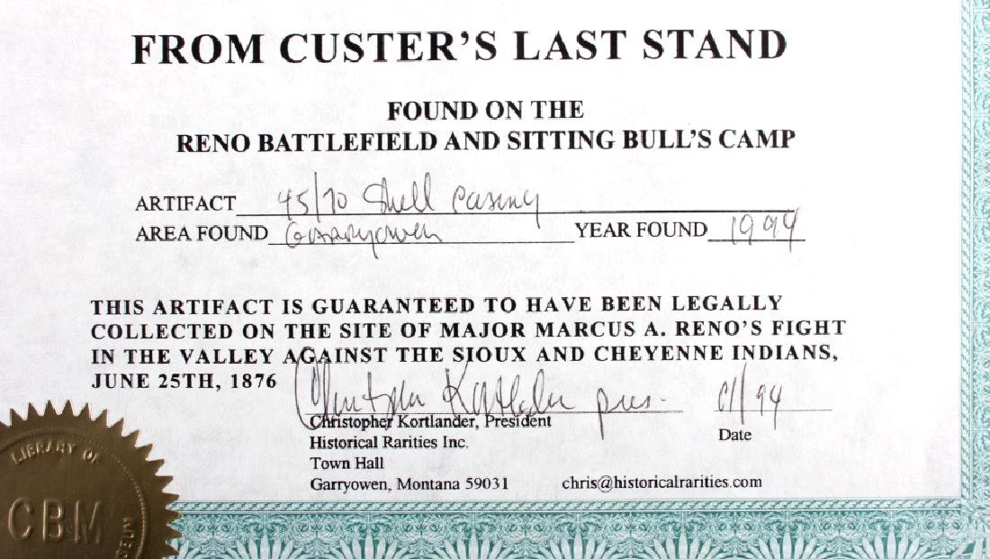 Battle of the Little Bighorn Artifacts with COA - 11