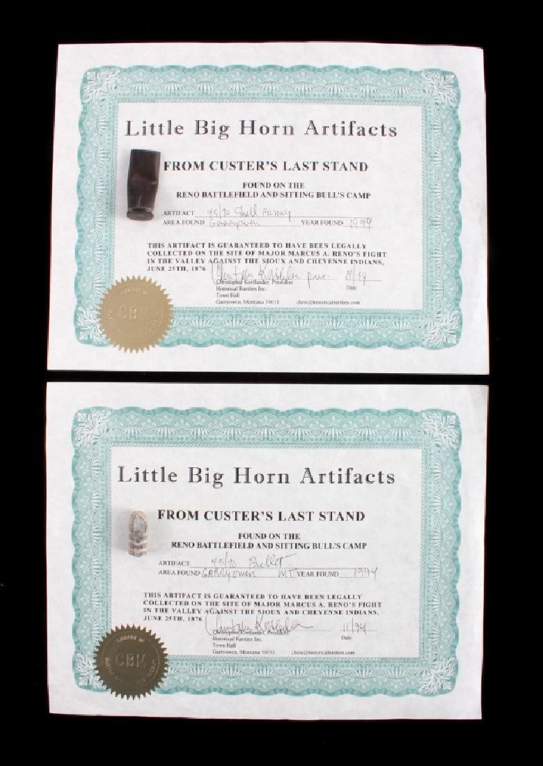 Battle of the Little Bighorn Artifacts with COA