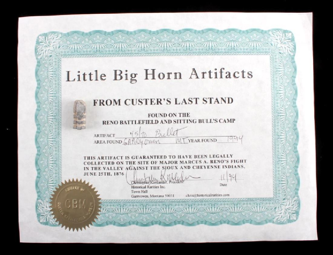Battle of the Little Bighorn Artifacts with COA - 5