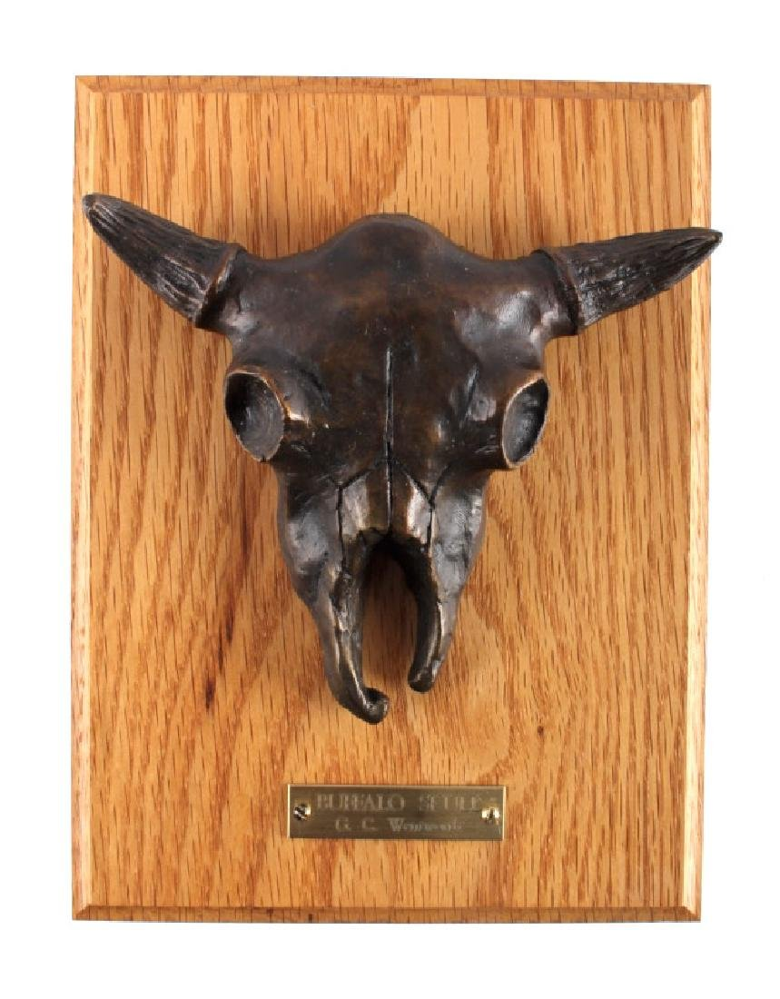 G.C. Wentworth Buffalo Skull Bronze Sculpture