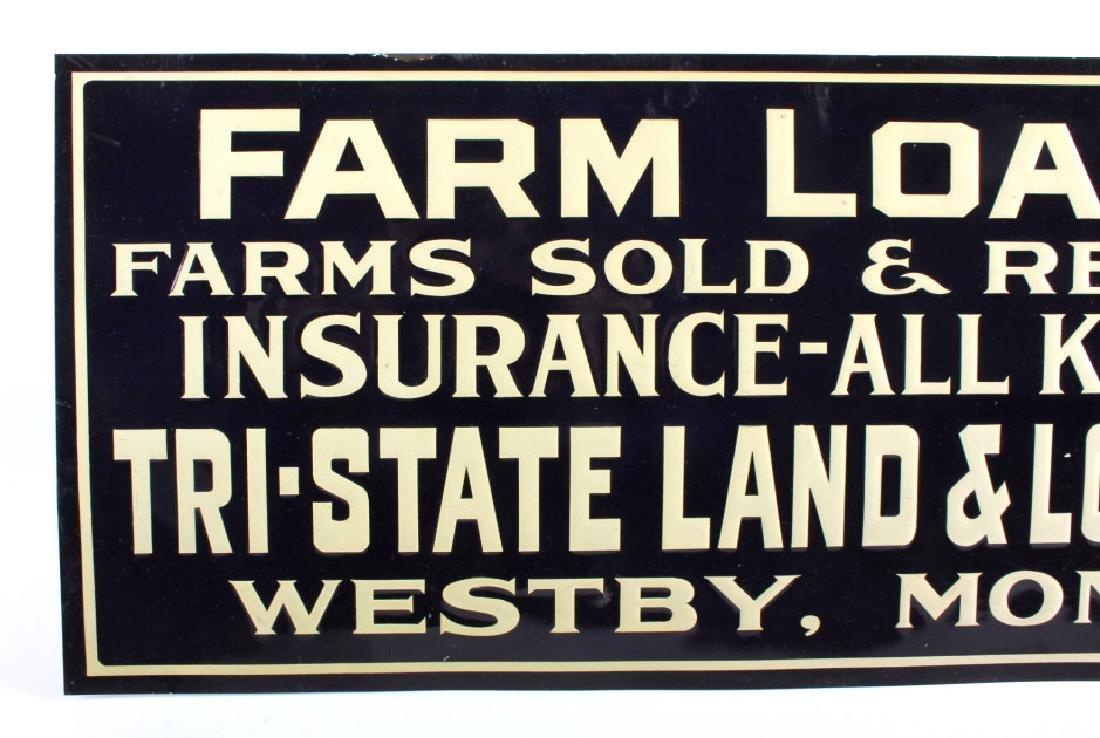 Original Westby Montana Farm Loan Sign Early 1900 - 2