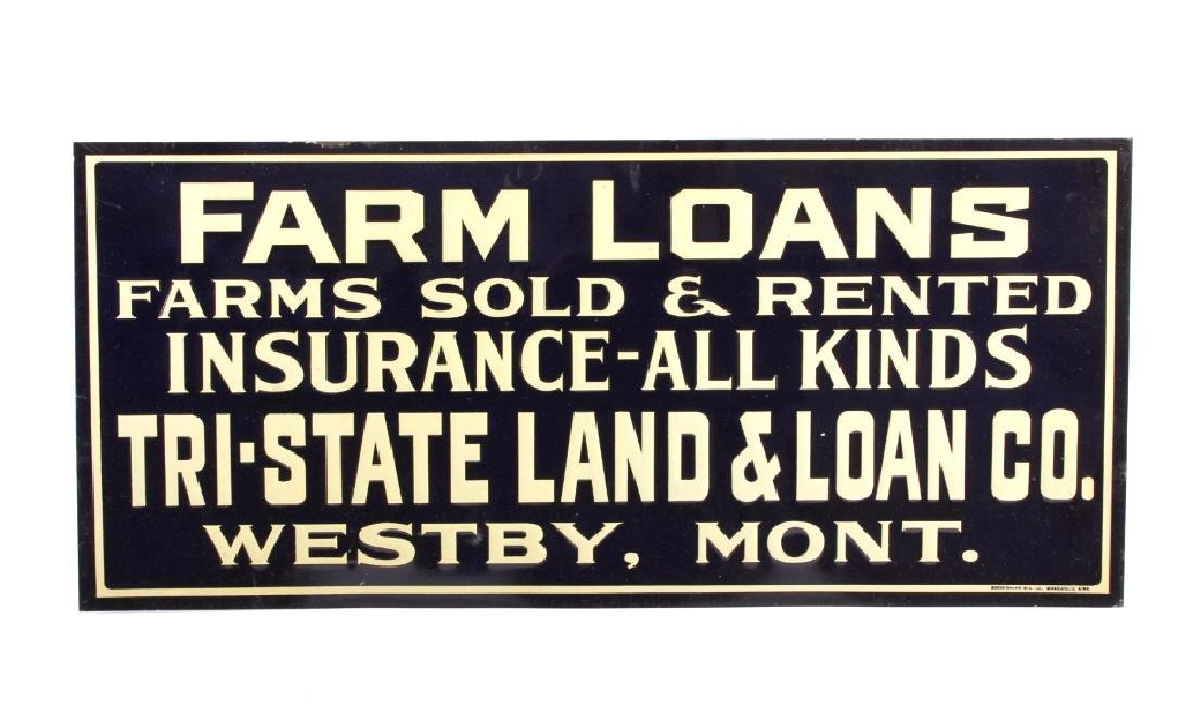 Original Westby Montana Farm Loan Sign Early 1900 - 8