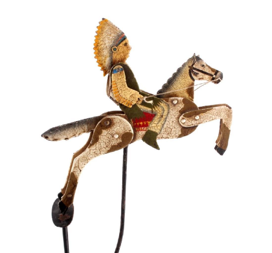 Folk Art Galloping Indian Sculpture - 2