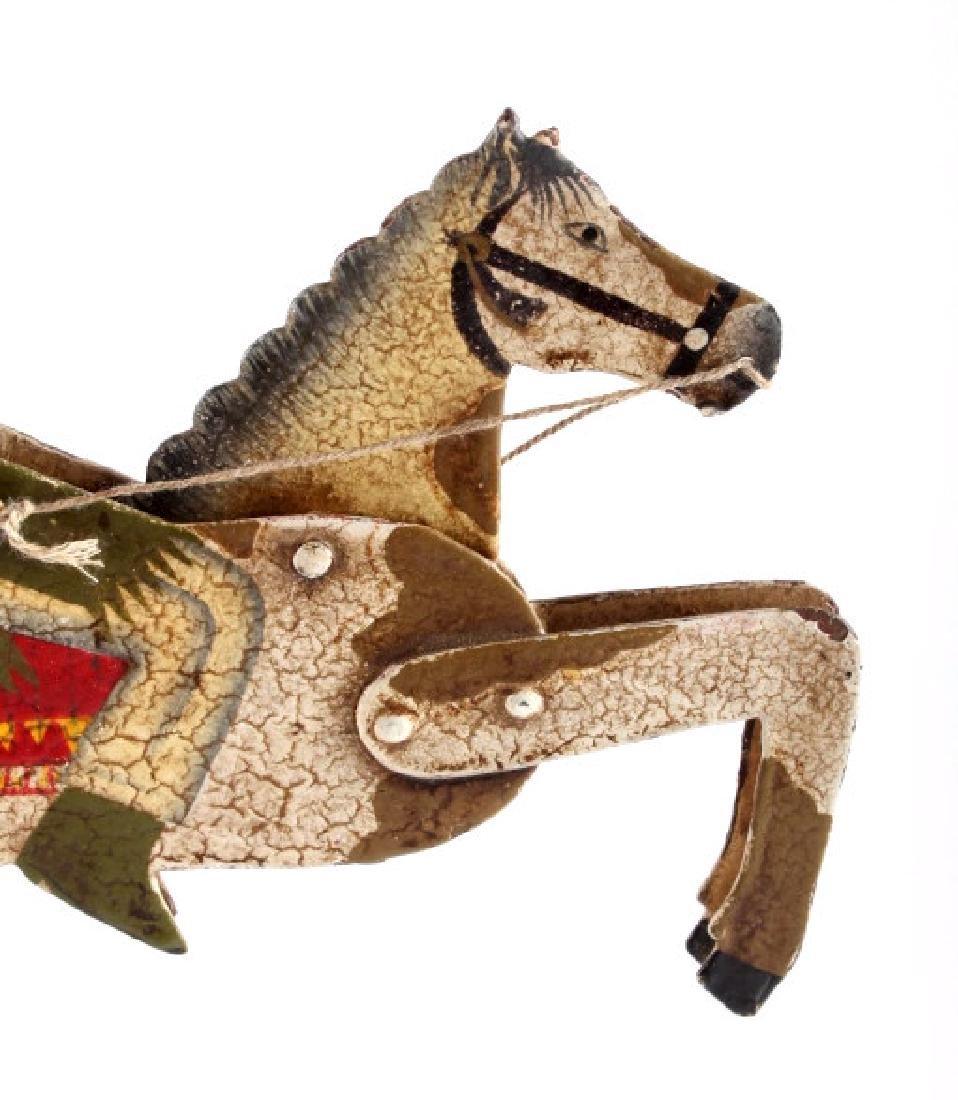 Folk Art Galloping Indian Sculpture - 4