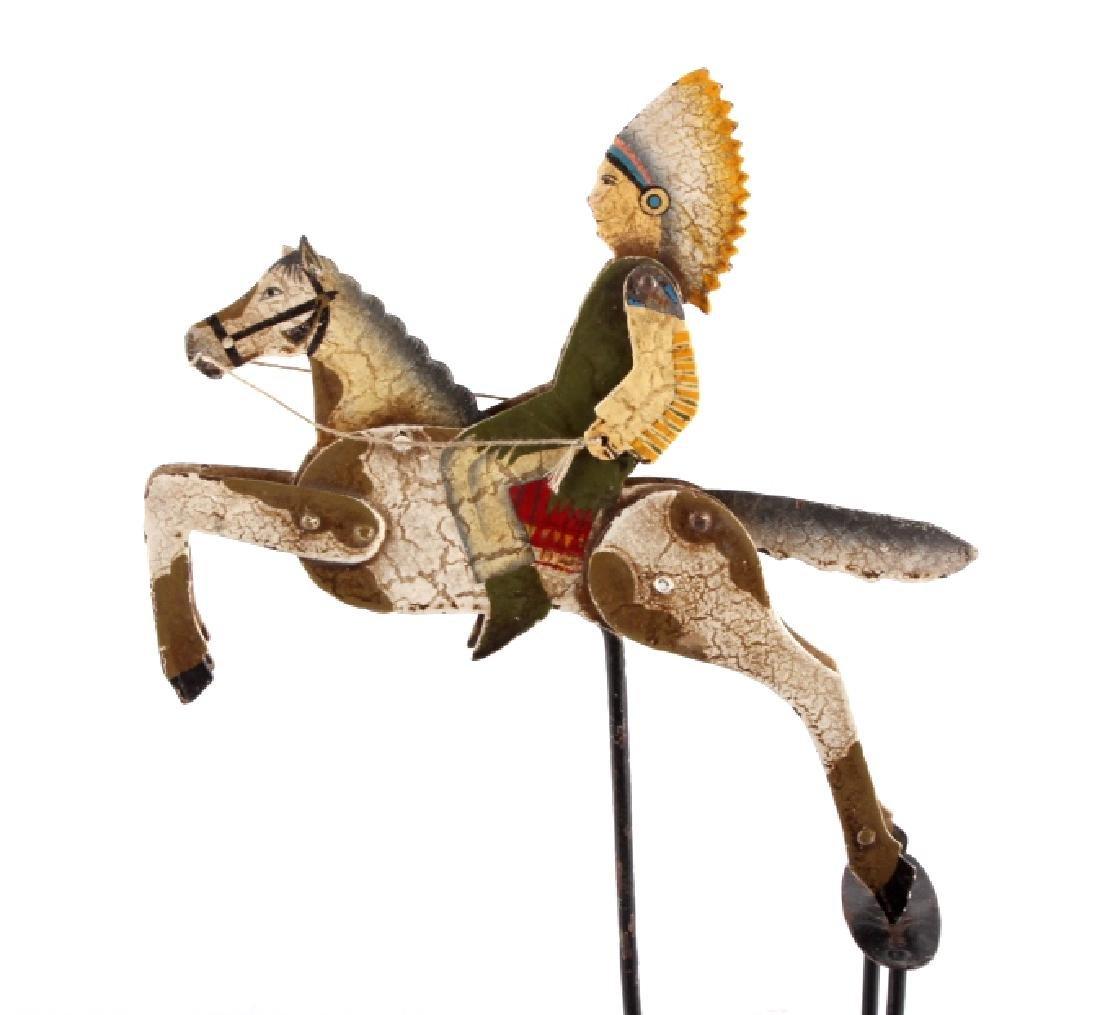 Folk Art Galloping Indian Sculpture - 6
