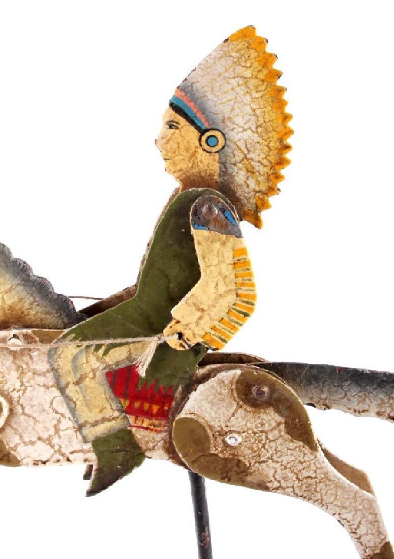 Folk Art Galloping Indian Sculpture - 7