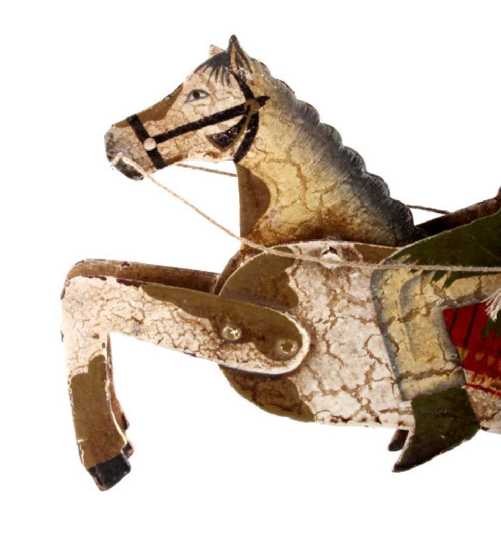 Folk Art Galloping Indian Sculpture - 8